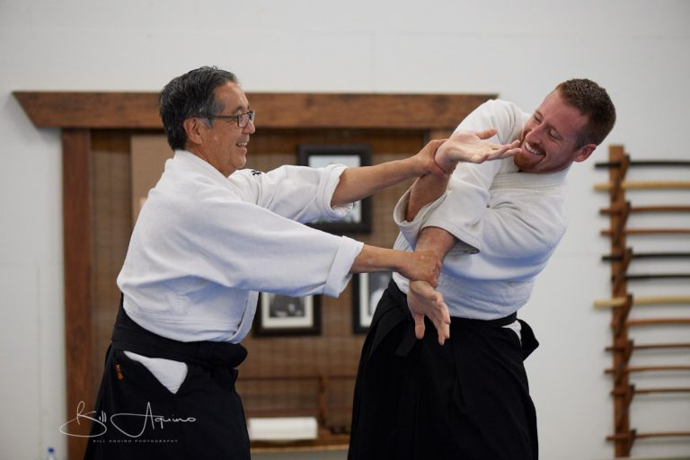 Goto Sensei demonstrating Juji Garame during Aikido Seminar