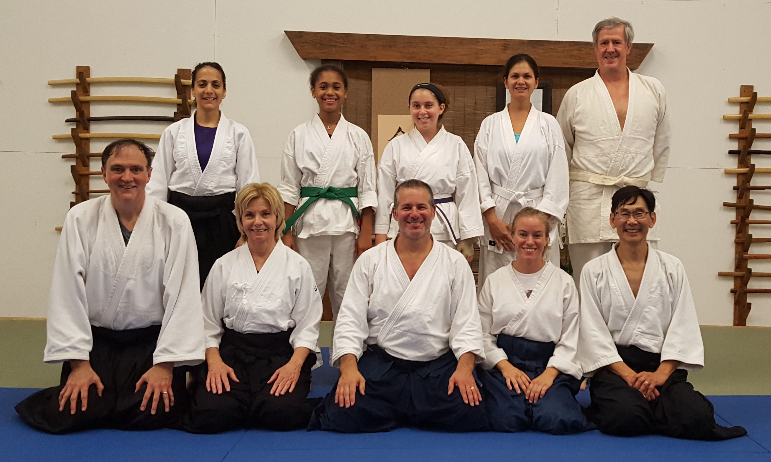 aikido instructors and students at seminar