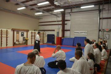 Goto Sensei Giving Aikido Instruction at a Seminar