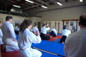 Bowing in at Aikido Class