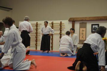 Sensei Tuchfeld and Goto Sensei during Keiko