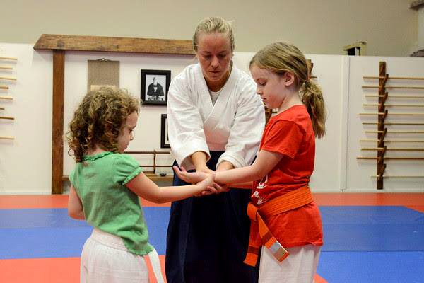 Instructor Laura Hackle and Aiki Kids
