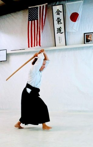 suburi with bokken