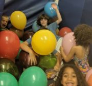 Kids Having Fun with Balloons