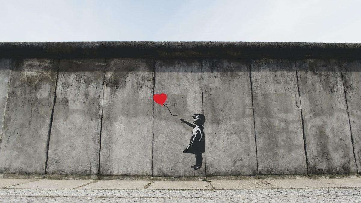 Graffiti in a city